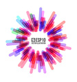 Abstract Circle Banner Stylized Firework vector image