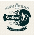 restaurants or seafood shops vector image