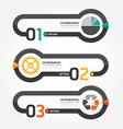 Abstract infographic line template vector image
