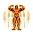 bodybuilder fitness model athlete with beautiful vector image