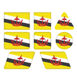 buttons with flag of Brunei vector image