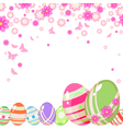 Easter background with eggs vector image