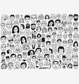 faces doodle set vector image