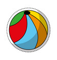 plastic balloon isolated icon vector image