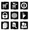 Web site glossy icon set vector image