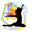 Woman meditating and doing yoga vector image