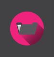 0510k flat folder icon vector image