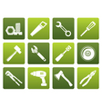Flat different kind of tools icons vector image vector image