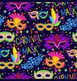 authentic handmade venetian carnival face mask vector image
