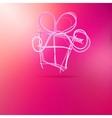 Christmas gift box on pink vector image