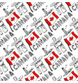 hand drawn seamless pattern with canada culture vector image