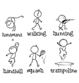 Different sports vector image vector image