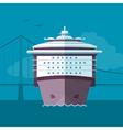 Flat ship vector image