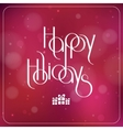 Merry Christmas interlaced lettering with bokeh vector image