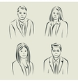 Characters design Faces sketch vector image