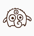 Three Eyed Alien Outline vector image