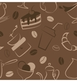 Seamless pattern with coffee signs vector image