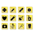 medical and healtcare icons vector image vector image