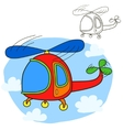 Helicopter Coloring book page vector image