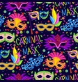 authentic handmade venetian carnival face mask vector image