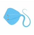 Cramp fish icon cartoon style vector image
