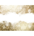 Golden background of sparkling sequins EPS 10 vector image