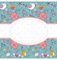 Lovely colorful invitation postcard vector image