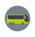 modern tourist bus icon travel transport concept vector image