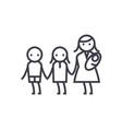 mother with three childrenmaternitymotherhood vector image