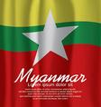Myanmar Flag Curtain vector image