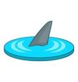 Shark fin icon cartoon style vector image