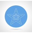 Starfish blue round icon vector image