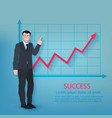 Successful Businessman Poster vector image