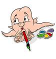 Octopus Painter vector image