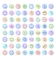 icons line rounded ui vector image