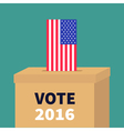 Ballot Voting box with American flag paper blank vector image