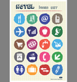 Hotel and service icons set drawn by chalk vector image vector image