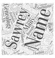 Sawrey genealogy Word Cloud Concept vector image