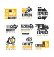 express delivery set for label design delivery vector image
