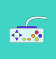 flat icon design collection playing joystick vector image vector image