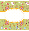 Lovely colorful invitation postcard vector image vector image