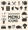 Flat Design Restaurant Menu Icons Set vector image vector image