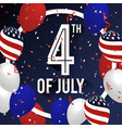 4th of july celebration background design vector image