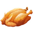 Whole roasted or BBQ chicken vector image