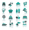 vacation travel  recreation icons set vector image