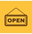 The open sign icon Input and entrance symbol vector image