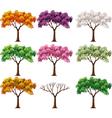 Cartoon of beautiful colorful tree vector image