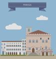 Perugia vector image vector image