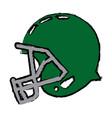 american football helmet equipment protection vector image