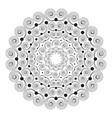black white round mandala with spirals vector image